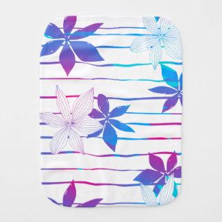 Tropische Blumen und Streifen Spucktuch