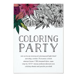 Tropische Blumenfarbton-Party Einladung