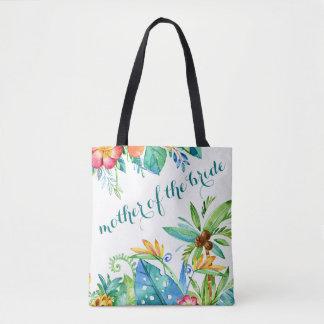 Tropische Blumenmutter der Braut Tasche