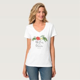 Tropische Blumenmutter des Bräutigams ID475 T-Shirt