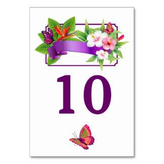 Tropische Blumenschmetterlings-Hochzeit Karte