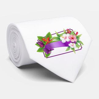Tropische Blumenschmetterlings-Hochzeits-Krawatte Krawatte