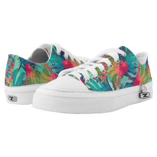 Tropische Blumenschuhe des Aquarell-  Niedrig-geschnittene Sneaker