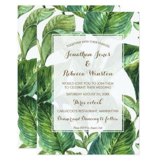 tropische botanische Palmblätter, die Einladung