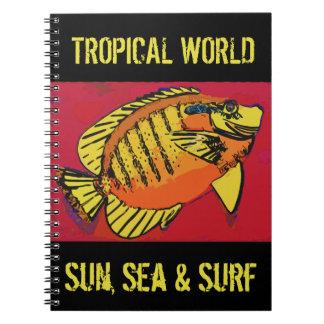 Tropische Brandung Spiral Notizblock