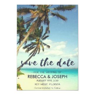 Tropische Brisen-Strand-Hochzeit retten die Daten Karte