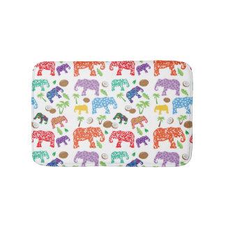 Tropische Elefanten Badematte
