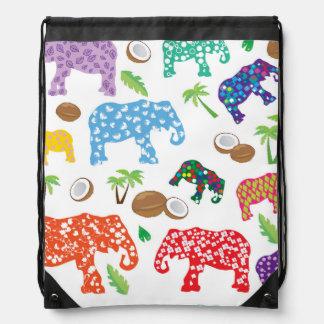 Tropische Elefanten Turnbeutel