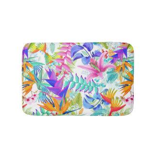 Tropische exotische Blumen Badematte