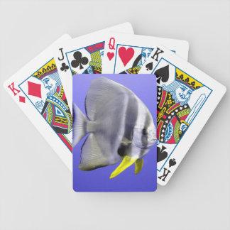 Tropische exotische Fische des Batfish Unterwasser Bicycle Spielkarten
