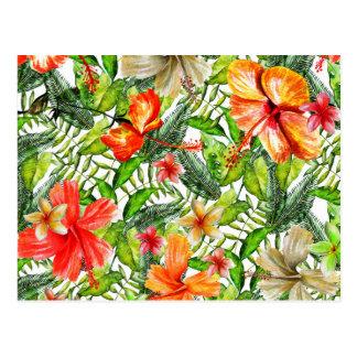 Tropische exotische postkarte