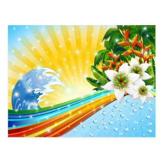 Tropische exotische Sommerferien Postkarte