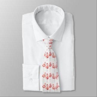 Tropische | Familie der Flamingos Bedruckte Krawatten