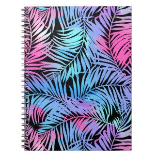 Tropische farbige Palmen Notizblock