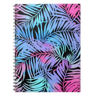Tropische farbige Palmen Spiral Notizblock