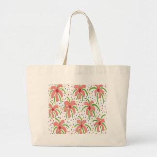 Tropische Fiesta-Blumen Jumbo Stoffbeutel