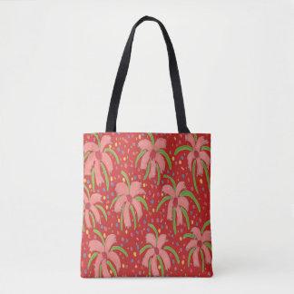 Tropische Fiesta-Blumen-rote Taschen-Tasche Tasche