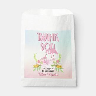 Tropische Flamingo-Babyparty danken Ihnen