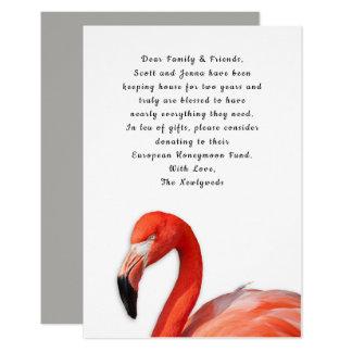 Tropische Flamingo-Gewohnheit, die wohle Karten Karte