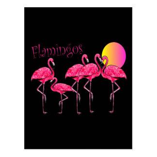 Tropische Flamingo-Kunst-Geschenke Postkarte