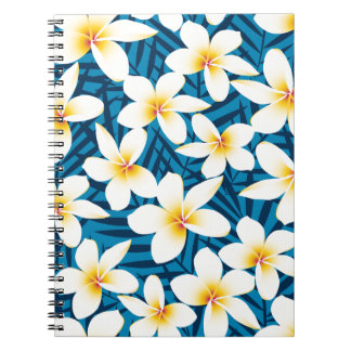 Tropische Frangipani-Blumen Notizblock