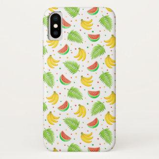 Tropische Frucht-Tupfen-Muster iPhone X Hülle