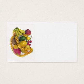 Tropische Frucht und Leu Visitenkarte