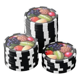 Tropische Früchte Pokerchips