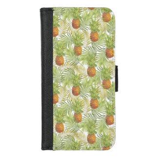 Tropische Garten-Blumen-Ananas-Insel iPhone 8/7 Geldbeutel-Hülle