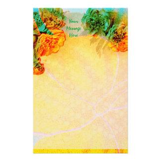 Tropische Grenzbriefpapierschablone Individuelles Druckpapier