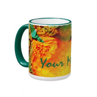 Tropische GrenzTassenschablone Teetasse