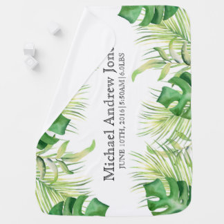 Tropische grüne Palmen Baby-oder Kinderwagendecke