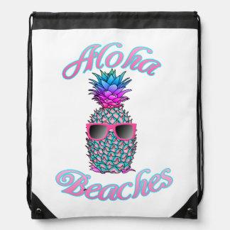 Tropische hawaiische Ananas-Aloha Strände Sportbeutel