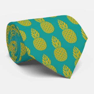 Tropische hawaiische Ananas-Muster-Krawatte Krawatte