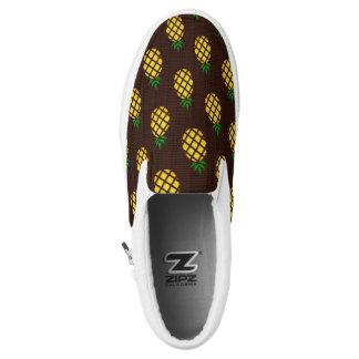 Tropische hawaiische Ananas-Schablone Slip-On Sneaker