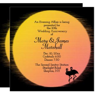 Tropische Hochzeitstag-Einladung Karte