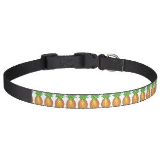 Tropische Insel-Ananas-gelber/grüner Haustierhalsband