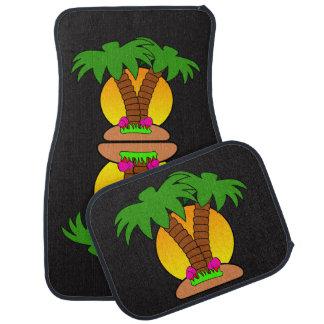 Tropische Insel-Auto-Boden-Matten (volles Set) Autofußmatte
