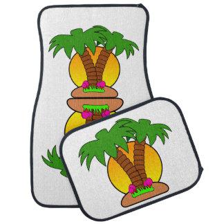 Tropische Insel-Auto-Boden-Matten (volles Set) Automatte