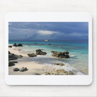 Tropische Insel des Korallenriffparadieses Mousepads
