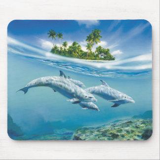 Tropische Insel-Fantasie-Mausunterlage Mousepad