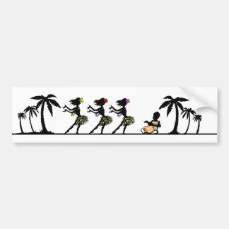 Tropische Insel Hula Tänzer Autoaufkleber