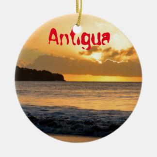 Tropische Insel in Antigua Keramik Ornament