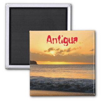 Tropische Insel in Antigua Quadratischer Magnet