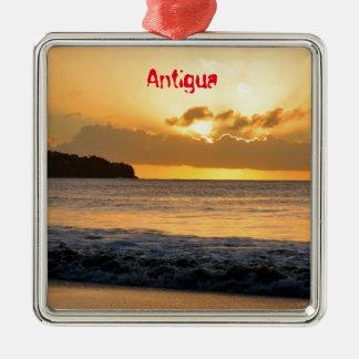 Tropische Insel in Antigua Silbernes Ornament
