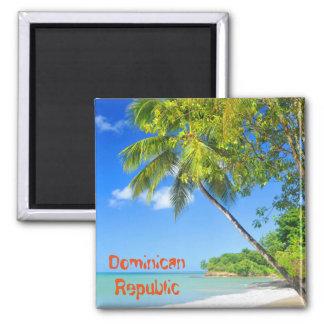 Tropische Insel in der Dominikanischen Republik Quadratischer Magnet