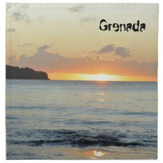 Tropische Insel in Grenada Stoffserviette