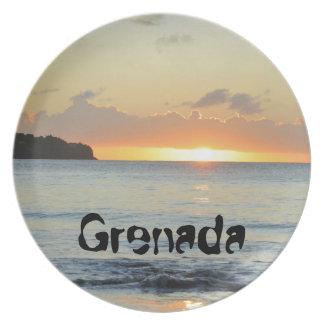 Tropische Insel in Grenada Teller