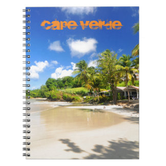 Tropische Insel in Kap-Verde Notizblock