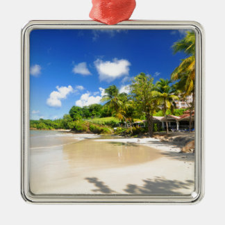 Tropische Insel in Kap-Verde Silbernes Ornament